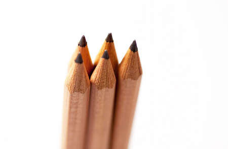 secretarial: Pencils isolated in white