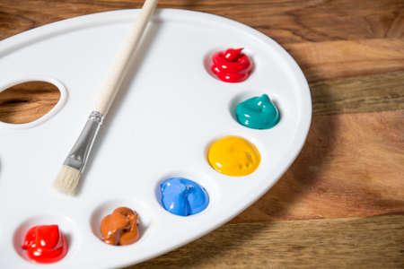 paints: Colorful acrylic paints
