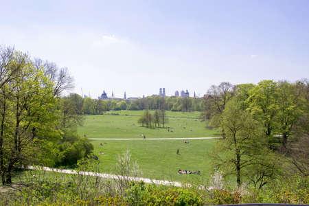 biergarten: Munich in spring