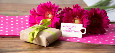 birthday flowers: nice decoration Stock Photo