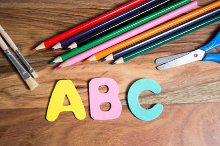 first day of school: symbol for first day of school Stock Photo