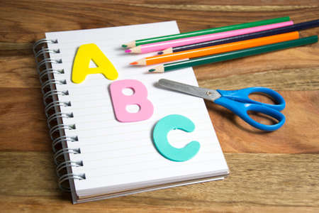 first  day: symbol for first day of school Stock Photo
