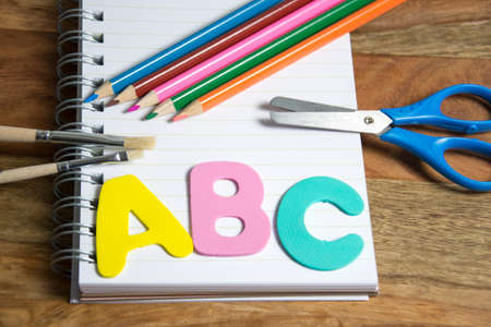 first grader: symbol for first day of school Stock Photo