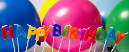 childrens birthday party: colorful birtday decoration