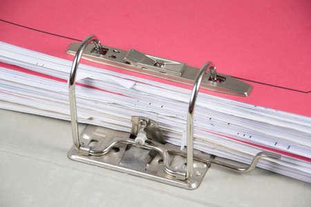 detail of aring binder Stock Photo