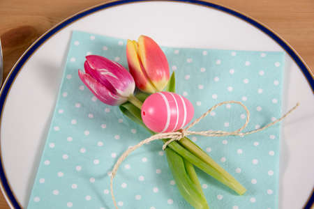 menue: photo of a colourful decoration for the easter menue