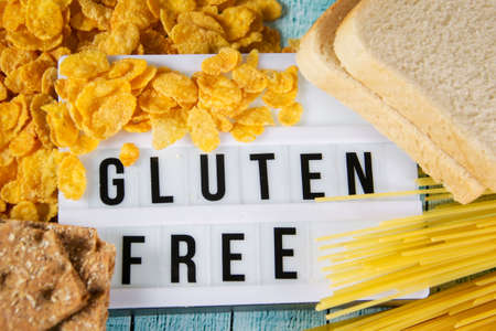 LIghtbox with the words gluten free