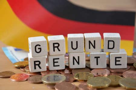 Grundrente - the german word for basic pension Standard-Bild