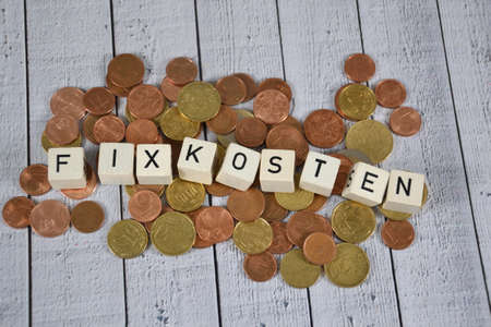 Fixkosten - the german word for fix costs