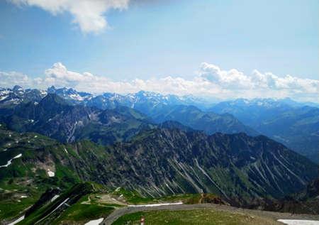 Nebelhorn - a mountain in bavaria Stock Photo