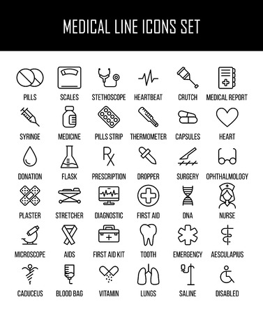 Set Of Medical Icons In Modern Thin Line Style High Quality