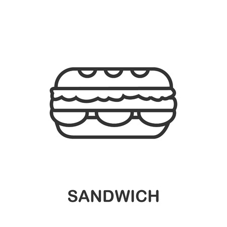 Sandwich icon or line art style. Vector Illustration.