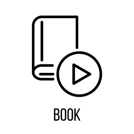 turning the page: Book icon or in modern line style. High quality black outline pictogram for web site design and mobile apps. Vector illustration on a white background.