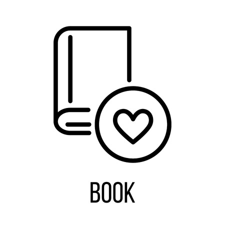 Book icon in modern line style. High quality black outline pictogram for web site design and mobile apps. Vector illustration on a white background.