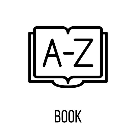 turning page: Book icon in modern line style. High quality black outline pictogram for web site design and mobile apps. Vector illustration on a white background.