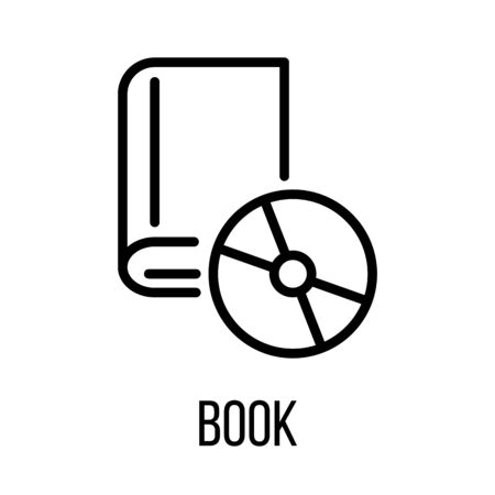 turning the page: Book icon in modern line style. High quality black outline pictogram for web site design and mobile apps. Vector illustration on a white background.