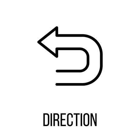lined up: Direction icon  in modern line style. High quality black outline pictogram for web site design and mobile apps. Vector illustration on a white background. Illustration