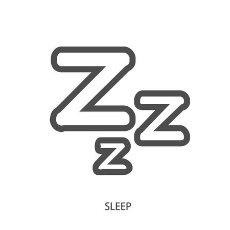 sleeper: Sleep ZZZ icon in modern line style