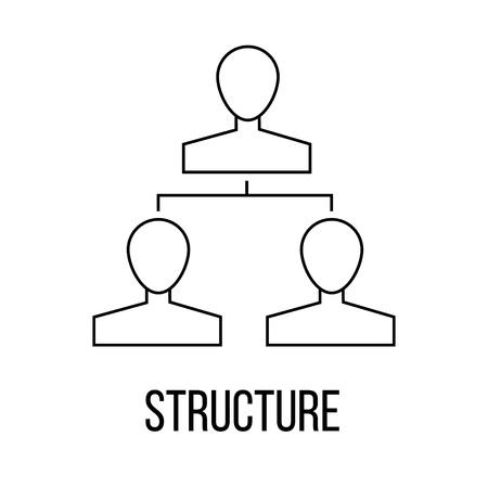delegation: Structure icon or logo line art style. Vector Illustration. Illustration
