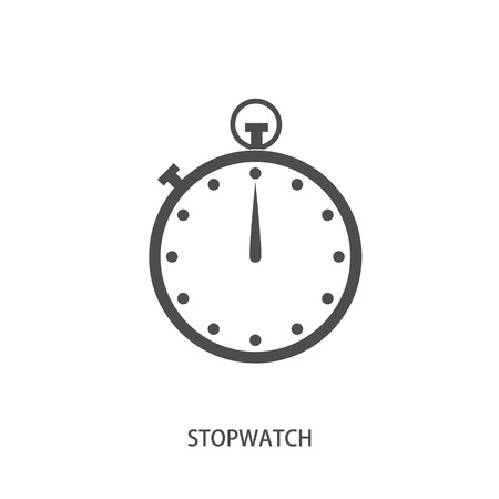 stop icon: Stop watch icon in modern line style