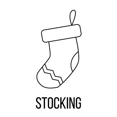 Stocking icon or logo line art style. Vector Illustration. Illustration