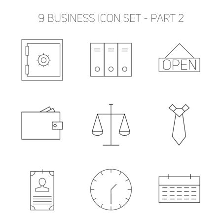 facia: Modern thin line icons set of doing business elements, solution for clients. Premium quality outline symbol collection. Simple mono linear pictogram pack. Stroke vector logo concept for web graphics.