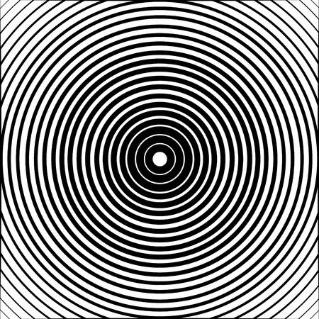 extra sensory perception: Concentric circle element or background. Black and white color ring. Vector illustration for sound wave. Abstract circle graphics. Hypnotic background.