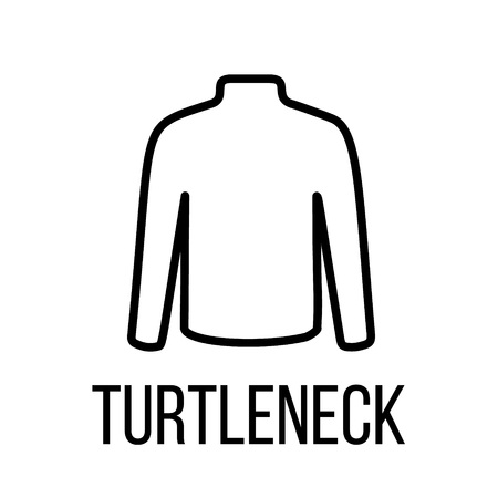 cargo pants: Turtleneck icon or logo in modern line style. High quality black outline pictogram for web site design and mobile apps. Vector illustration on a white background.