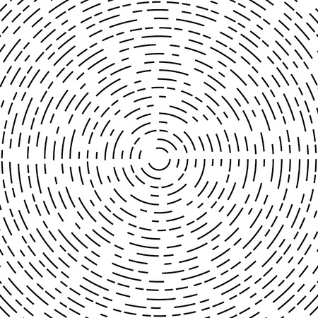 color ring: Concentric circle element or background. Black and white color ring. Vector illustration for sound wave. Abstract circle graphics. Hypnotic background.