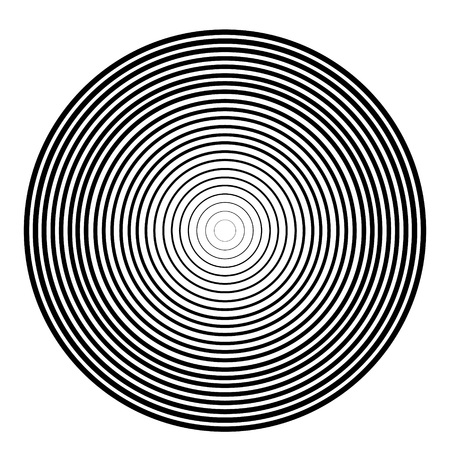 color ring: Concentric circle element. Black and white color ring. Vector illustration for sound wave on a white background. Illustration