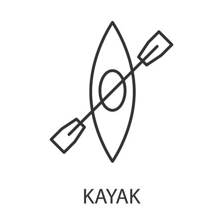 Kayak icon or logo line art style. Vector Illustration. Illustration