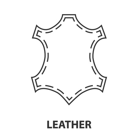 Leather icon or logo line art style. Vector Illustration. Illustration