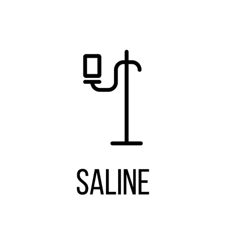long recovery: Saline icon or logo in modern line style. High quality black outline pictogram for web site design and mobile apps. Vector illustration on a white background.