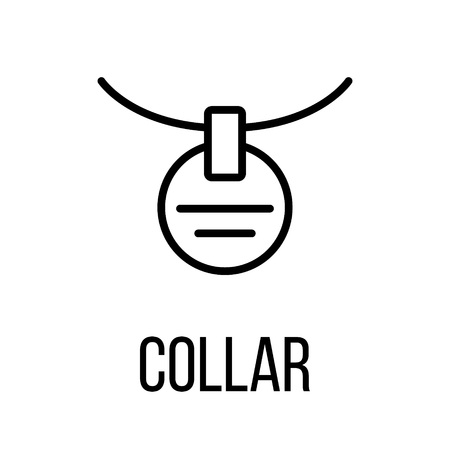 cat suit: Collar icon or logo in modern line style. High quality black outline pictogram for web site design and mobile apps. Vector illustration on a white background. Illustration
