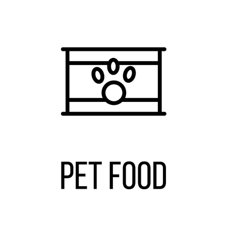 a snake in a bag: Pet food icon or logo in modern line style. High quality black outline pictogram for web site design and mobile apps. Vector illustration on a white background. Illustration