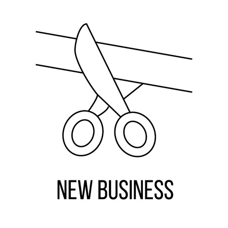 inaugural: New business or logo line art style. Vector Illustration.
