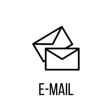 E-mail icon or logo in modern line style. High quality black outline pictogram for web site design and mobile apps. Vector illustration on a white background. Illustration