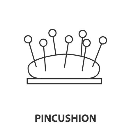 Pincushion icon or logo line art style. Vector Illustration.