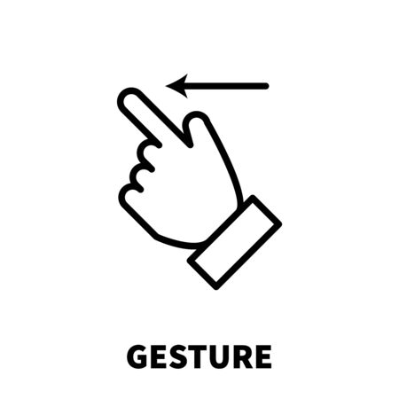Gesture icon or logo in modern line style. High quality black outline pictogram for web site design and mobile apps. Vector illustration on a white background. Illustration
