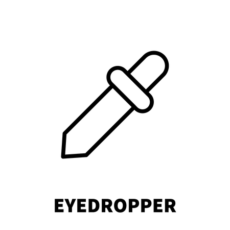 eyedropper: Eyedropper icon or logo in modern line style. High quality black outline pictogram for web site design and mobile apps. Vector illustration on a white background. Illustration