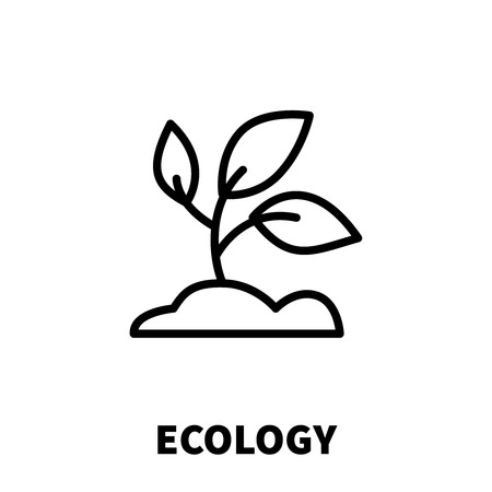 Ecology icon or logo in modern line style. High quality black outline pictogram for web site design and mobile apps. Vector illustration on a white background. Illustration
