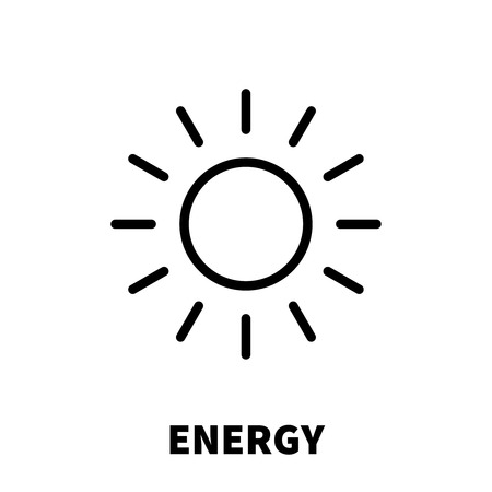 Energy thinking icon or logo in modern line style. High quality black outline pictogram for web site design and mobile apps. Vector illustration on a white background. Illustration
