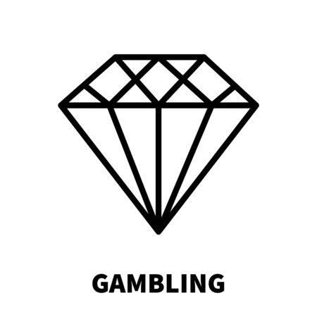 online roulette: Gambling icon or logo in modern line style. High quality black outline pictogram for web site design and mobile apps. Vector illustration on a white background.