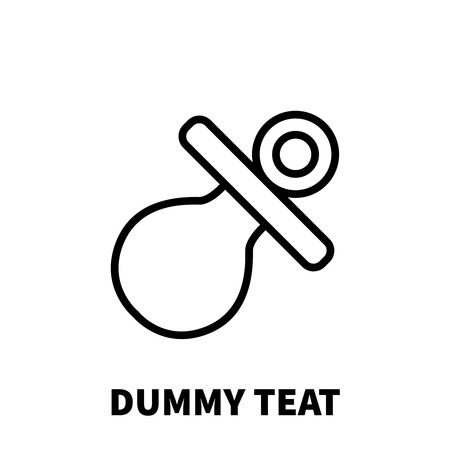 teat: Dummy teat icon or logo in modern line style. High quality black outline pictogram for web site design and mobile apps. Vector illustration on a white background.