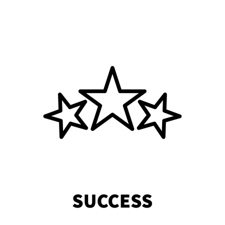 glorify: Success icon or logo in modern line style. High quality black outline pictogram for web site design and mobile apps. Vector illustration on a white background.