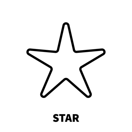 top class: Star icon or logo in modern line style. High quality black outline pictogram for web site design and mobile apps. Vector illustration on a white background.
