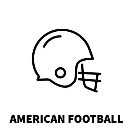 gridiron: American football icon or logo in modern line style. High quality black outline pictogram for web site design and mobile apps. Vector illustration on a white background. Illustration