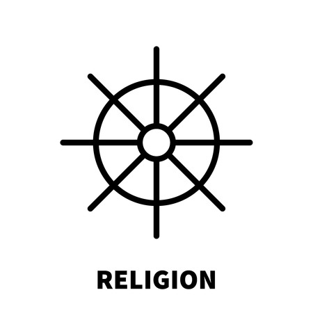 Religion icon or logo in modern line style. High quality black outline pictogram for web site design and mobile apps. Vector illustration on a white background. Illustration