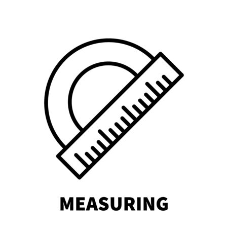 depth measurement: Measuring icon or logo in modern line style. High quality black outline pictogram for web site design and mobile apps. Vector illustration on a white background. Illustration