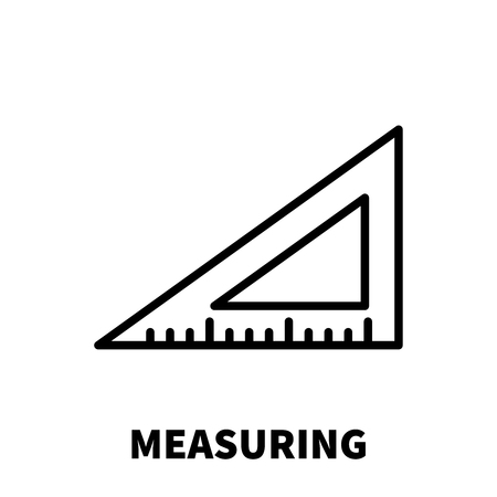 perimeter: Measuring icon or logo in modern line style. High quality black outline pictogram for web site design and mobile apps. Vector illustration on a white background. Illustration